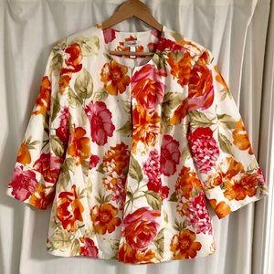 Dress Barn Floral Jacket Size 2X